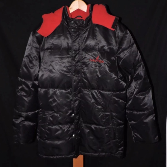 Nautica Jackets Coats Vintage Nylon Puffer Sailing Puffer Coat